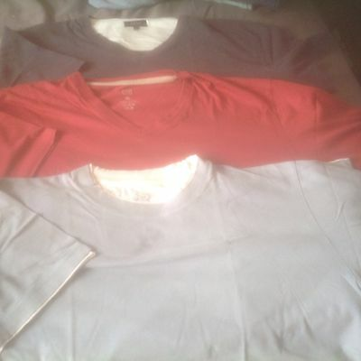 Reduced 3 Mens T-Shirt/tops Size Xl. Uk. Red,grey,navy.