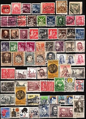 037 CZECHOSLOVAKIA Early to 1970s. Collection of Used Stamps