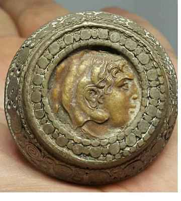 Wonderful Old Roman Coin Bronze Stunning Ring # I