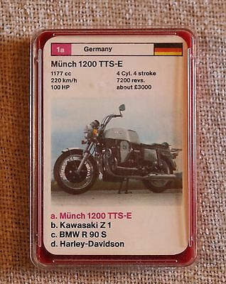Vintage Dubreq Limited Top Trumps Card Game In Box - Motor Cycles