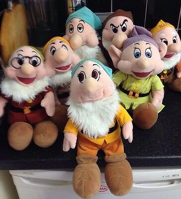 Disney.  All 7 Dwarfs soft toys