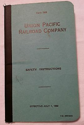 Vintage UNION PACIFIC RAILROAD SAFETY INSTRUCTIONS 1954 Booklet Form 7908