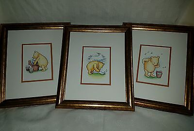 3 winnie the pooh framed pictures