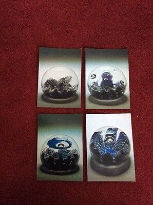 4 Postcards From Caithness Glass, Wick, Showing  Paperweights.