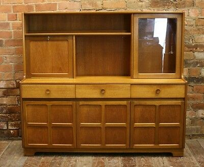 Mid Century Danish Modern 1960's Wall Unit, Bookcase, Cabinet, Credenza MCM