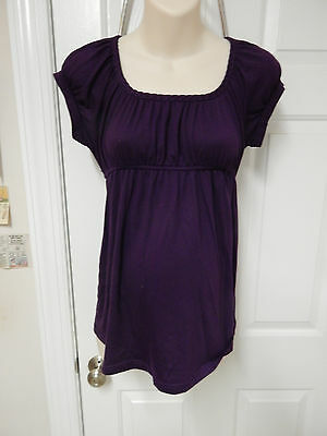 b.sport maternity purple top M medium short sleeve