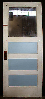 "32""x80"" Antique Wood Wooden Exterior Side Back Entry Door Glass Lite Pane Window"