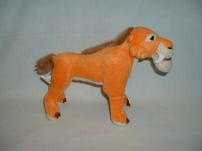 ICE AGE 3 DIEGO THE SABRETOOTH TIGER Cuddly Soft Plush Toy DAWN OF THE DINOSAURS