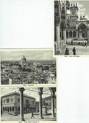 Postcards: 3 postcards of Udine, Italy.  unposted