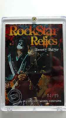 rock star relic card tommy thayer kiss clothing card