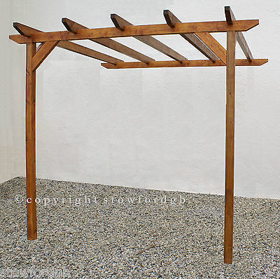 1.8m x 3.6m Lean to wooden Pergola - With post height options