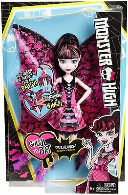Monster High Ghoul-to-Bat Transformation Draculaura - Brand New