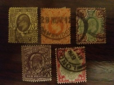 GB EVII Used collection upto 1 shilling