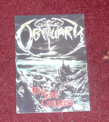Obituary - The End Complete - Picture Postcard