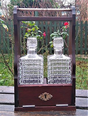 Vintage Tantalus with 2 Decanters