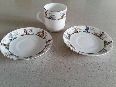 vintage- CHINA--PUNCH & JUDY, JACK & JILL, MISS MUFFET ,BOY BLUE,MARY MARY,LOOK