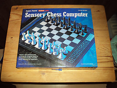 Vintage Radio Shack Super 1680L Sensory Chess Computer, Electronic Chess Game