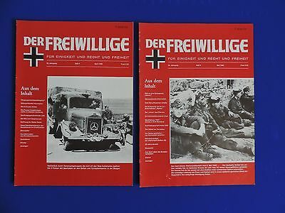 DER FREIWILLIGE Magazine published in the 1980's - 2 copies.