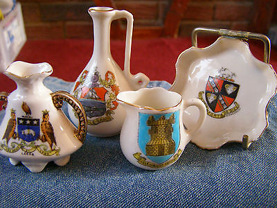 4 X Crested China  Isle Of Wight Bolton Le Sands Leeds East Stonehouse