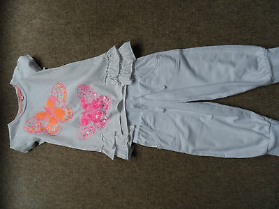 Matthew Williamson butterfly top and george crop sweat bottoms