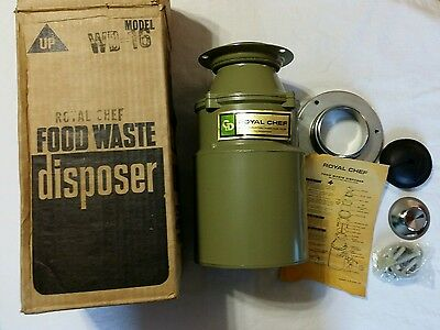 Royal Chef Food Waste Disposer Garbage Disposal WD-16 WD16 NOS NEW NIB Opened
