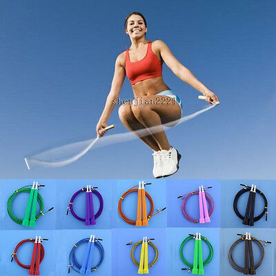 Adjustable Jump Rope Speed Wire Skipping Cardio Fitness Exercise Crossfit Sport