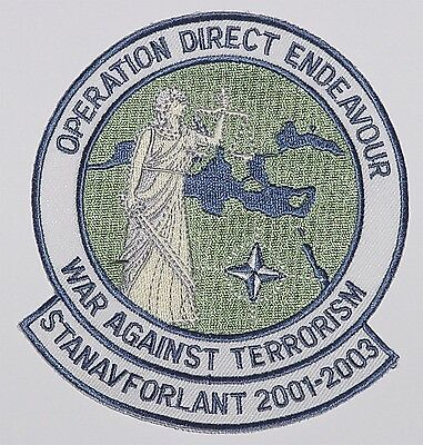 Aufnäher Patch Operation Direct Endeavour STANAVFORLANT 2001-2003