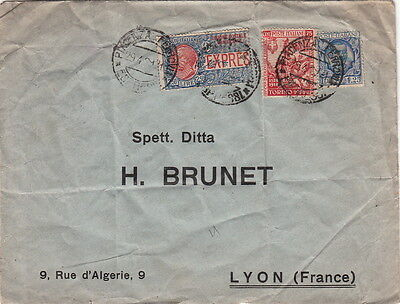 Lettre Piacenza Italy Timbre Expres France Cover Brief Italia