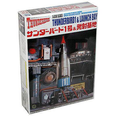 Thunderbirds TB1 Launcher with Launcher Bay 1:350 Scale Model Kit