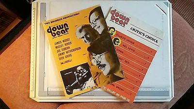 "2 ""downbeat - Jazz, Blues, Rock"" Magazines May & August 1972 Issues."