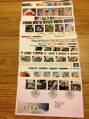Job Lot of 54 UK GB FDC's First Day Covers from 1994 to 2002 Lot #A58