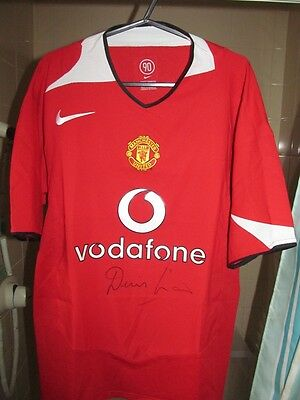 Manchester United Shirt Signed by Dennis Law