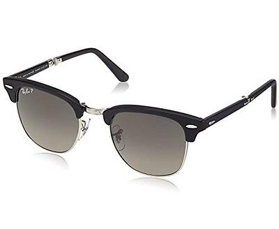 Ray-Ban 7790 Womens Clubmaster Black Foldable Gradient Polarized Sunglasses