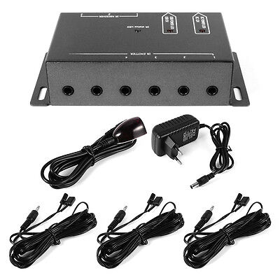 IR Remote Control Infrared 8 Emitters Audio/Video Repeater System Extender AH178