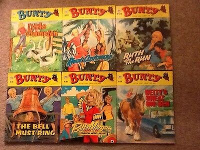 Vintage Bunty Picture story library books  late 70's and 1980's numbers