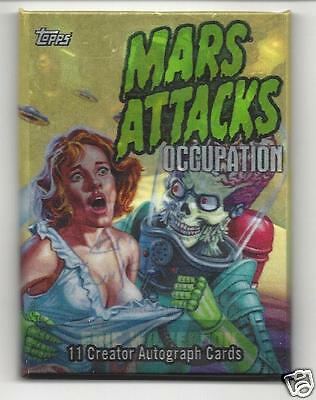Mars Attacks Occupation TOPPS*AUTOGRAPH FAT PACK 11 CREATOR'S AUTOGRAPHED CARDS