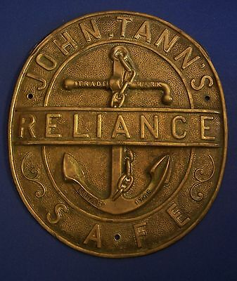 John Tann's Reliance Safe Plate Metal 9 inches tall