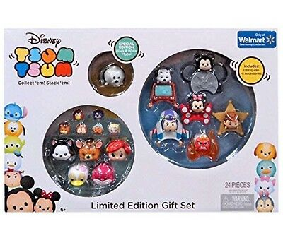 New!! Disney Tsum Tsum 2016 Limited Edition 24 Piece Gift Set Exclusive