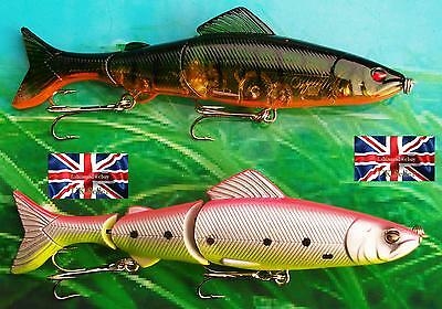 """2 X 20g 4.5"""" AMERICAN DOUBLE JOINTED RATTLING FLOATING LURES BASS PIKE FISHING"""