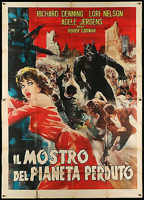 DAY THE WORLD ENDED italian 55x79 movie poster sci-fi CORMAN monster from hell