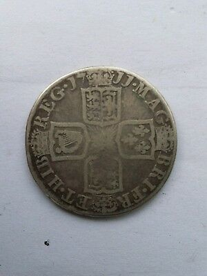 1711 Queen Anne Early Milled Silver Shilling.