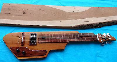 Cherry lap steel guitar w/ exotic wood accents