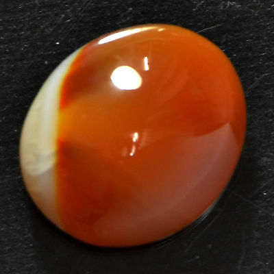 Cts. 14.00 NATURAL DOUBLE COLOR CARNELIAN LACY  AGATE OVAL CABOCHON GEMSTONE