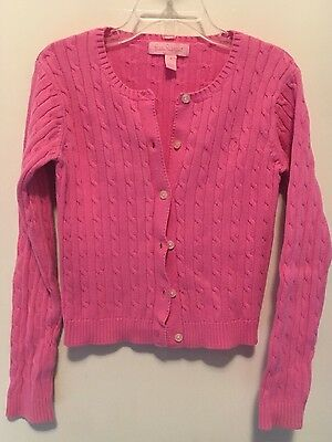 Girls Size 7 Lilly Pulitzer Pink Cardigan