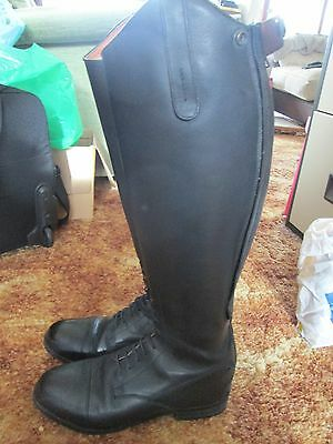 Long riding boots - black 37 reg - excellent condition