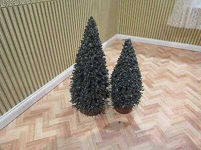 Dolls House Emporium Set Of Two Evergreen Christmas Trees,12Th Scale