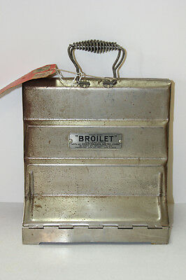 """""""Broilet"""" Antique Vertical Broiler Deep Drawn Metal Company NY Patent 1923"""