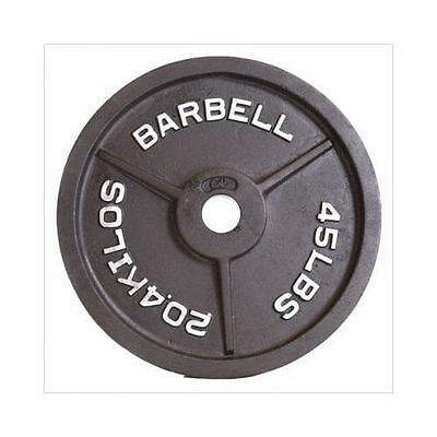 45 lbs CAP Barbell Black Olympic Weight Iron Plate Exercise Lifting