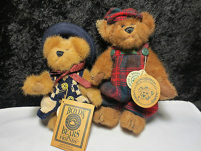 """Boyds Bears & Friends Collection - """"bailey"""" & """"caitlin Berriweather"""