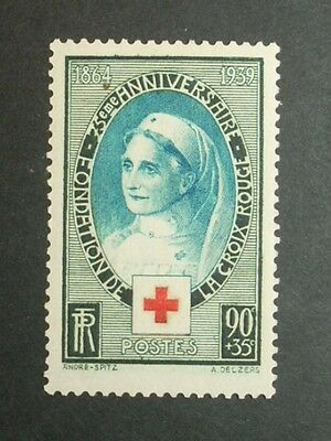 FRANCE 1939 75th ANNIV RED CROSS LMM  SG634